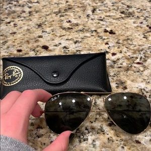 Ray Ban sunglasses black / gold